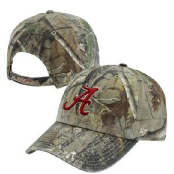 Alabama Crimson Tide Camo Strap Back Hat Cap New